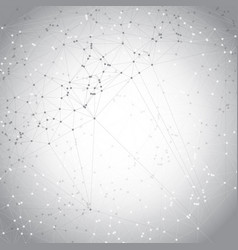 Low poly design with connecting dots vector