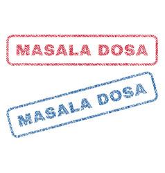 Masala dosa textile stamps vector