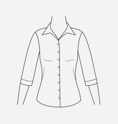 mid sleeve shirt icon line element vector image