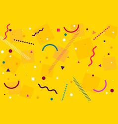 Modern abstract yellow paternal design vector