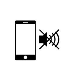 Mute sound mobile phone icon vector