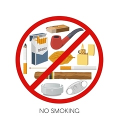 No Smoking Sign Design vector