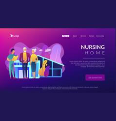 nursing home concept landing page vector image
