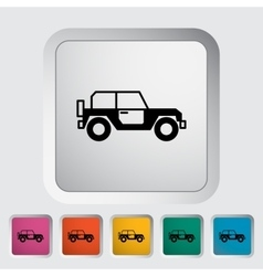 Offroad car vector image