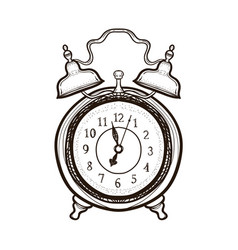 old alarm clock coloring book for adults vector image