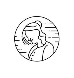 old lady outline logo vector image
