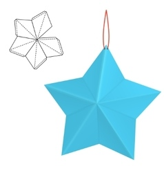 Paper star gift vector