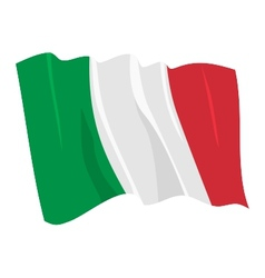 Political waving flag italy vector
