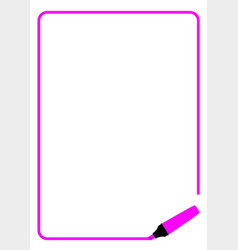 Purple highlighter page border vector