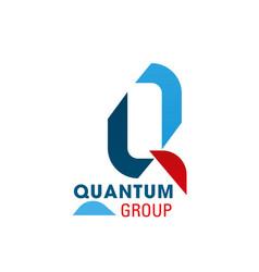 Quantum group letter q icon vector