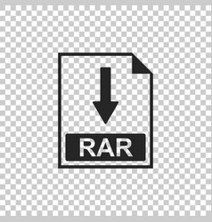 rar file document icon download rar button icon vector image