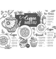 restaurant coffee menu design vector image