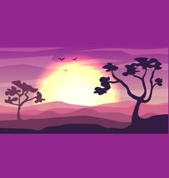 safari cartoon background desert savanna panorama vector image
