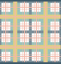 scottish plaid seamless pattern green colors vector image