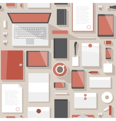 Seamless background pattern for business vector