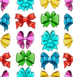 Seamless pattern cute cartoon bows-7 vector image
