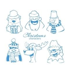 set six christmas holidays vector image
