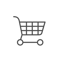 shopping cart line outline icon vector image