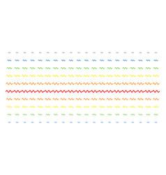 Sinusoid wave shape halftone spectrum pattern vector
