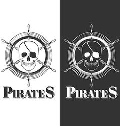 skull pirate vector image