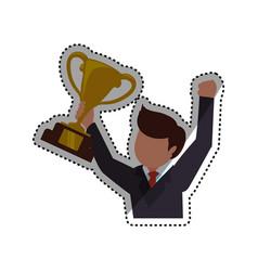 Successful executive businessman vector