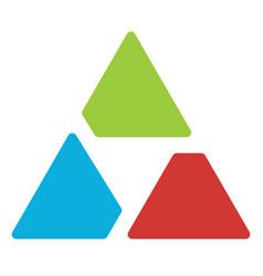 Triangle logo symbol - aperture like triangle vector