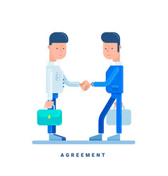Two businessmen conclude an agreement business vector