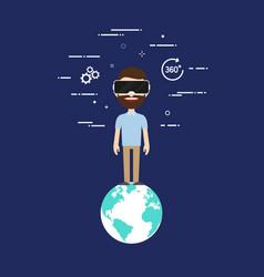 virtual reality technology concept flat design vector image