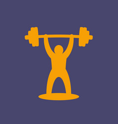 weightlifting icon logo element vector image