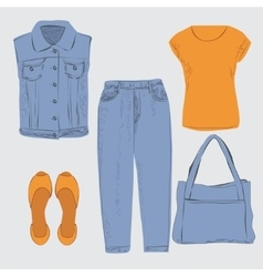 Woman outfit vector image