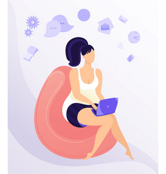 Work from home workplace concept design remote vector