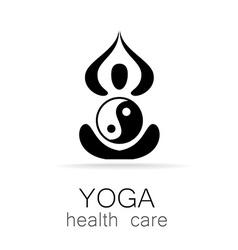 Yoga health care vector