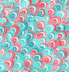 abstract color spirals seamless pattern with vector image vector image