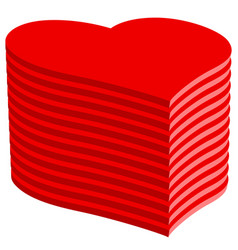 abstract heart pile vector image vector image