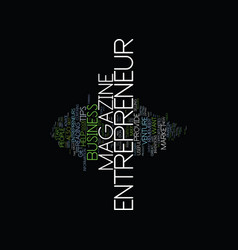 Entrepreneur magazine l text background word vector