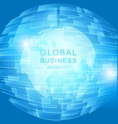 global business concept vector image