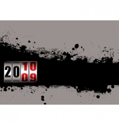 grunge New Year 2010 vector image