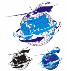 passenger airliner as a logo vector image vector image