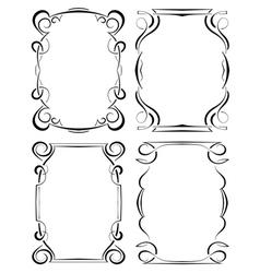 set of four elegant framework vector image vector image