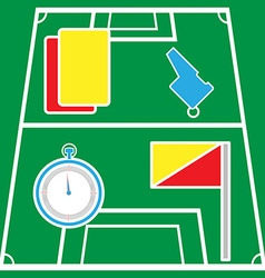 Soccer Referee Icons on Playground vector image vector image