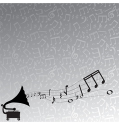 gramophone and melody vector image