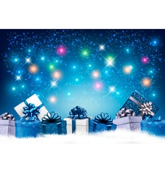 Happy new year background with colorful presents vector