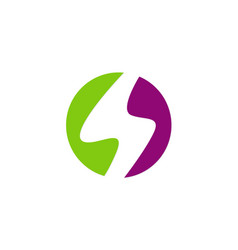 letter s round colored logo vector image