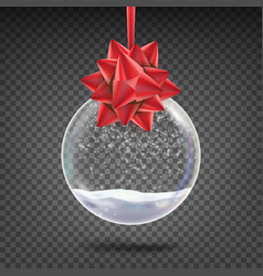 realistic christmas ball shiny glass xmas vector image vector image