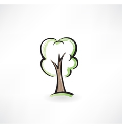 Tree grunge icon vector image vector image