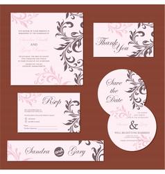 wedding set pink copy vector image vector image