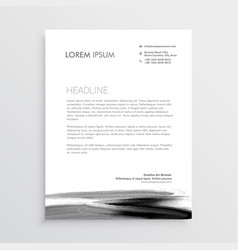 abstract letterhead template design with paint vector image vector image