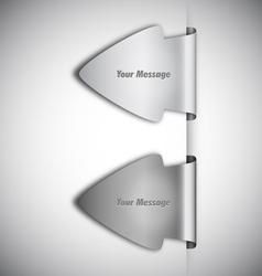 arrow labels vector image