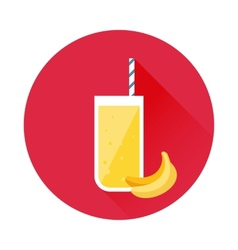 Banana juice icon vector
