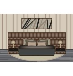 Bedroom Elevation Room with Luxury vector image